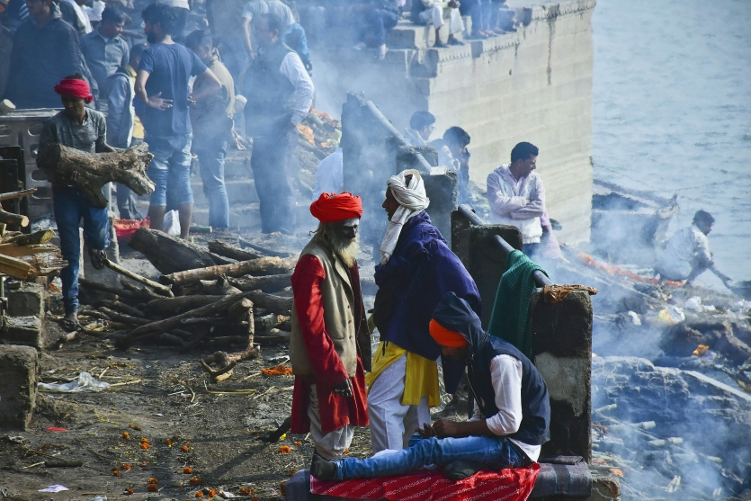 MANIKARNIKA , THE BURNING GHAT OF VARANASI.