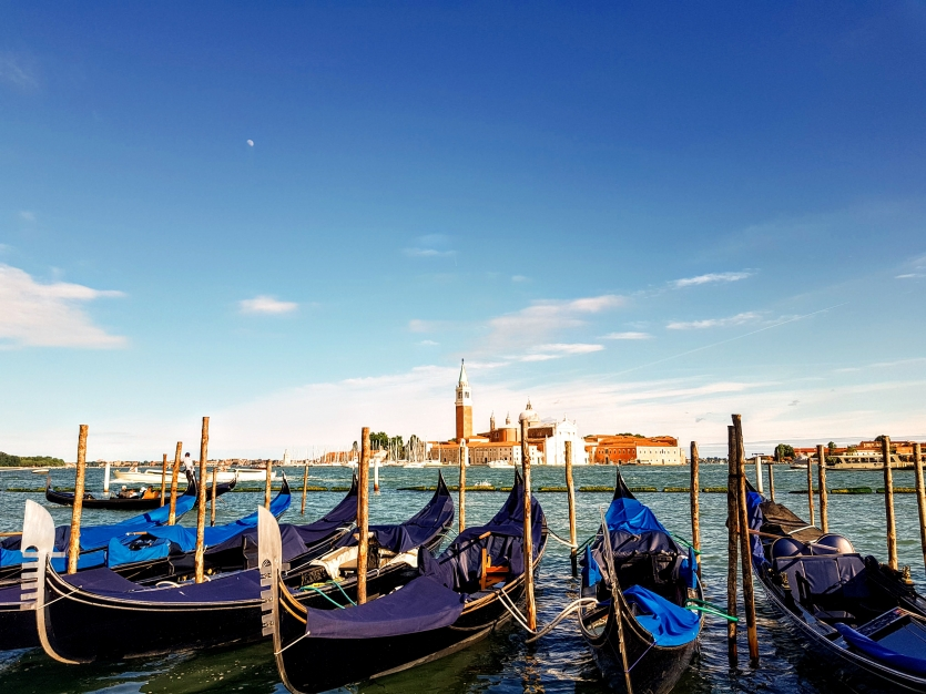 Gondolas in Grand Canal, Venice