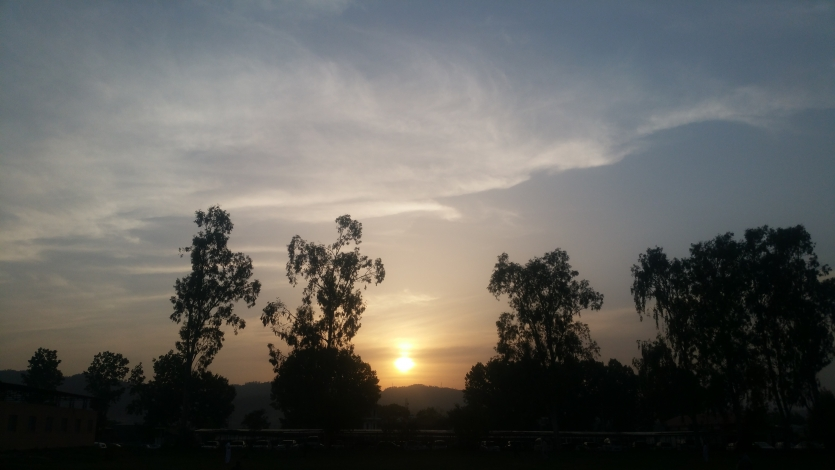Sunset from Ground