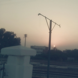 At Railway Station