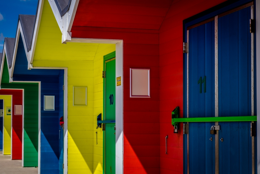 The colourful houses...