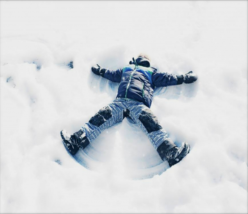 Snow angel boy