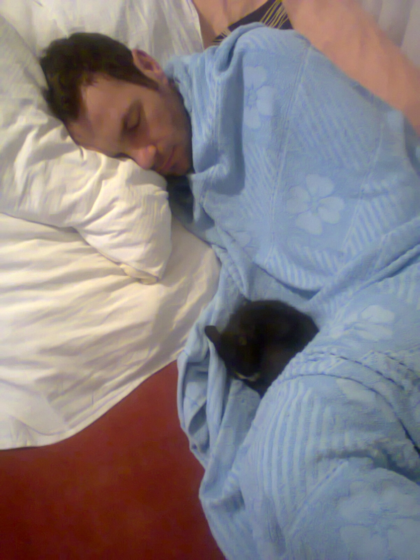 My husband and his kitty