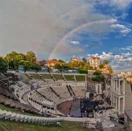 Rainbow over the Ancient theater