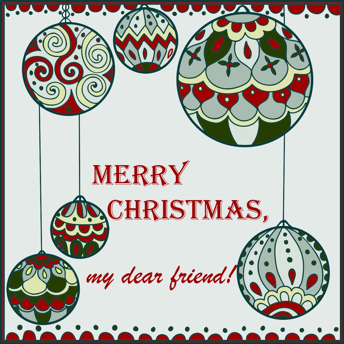 Merry Christmas, my dear friend! by Ștefania Bălăucă - Voubs.com