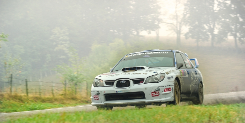 Rally car in the motion