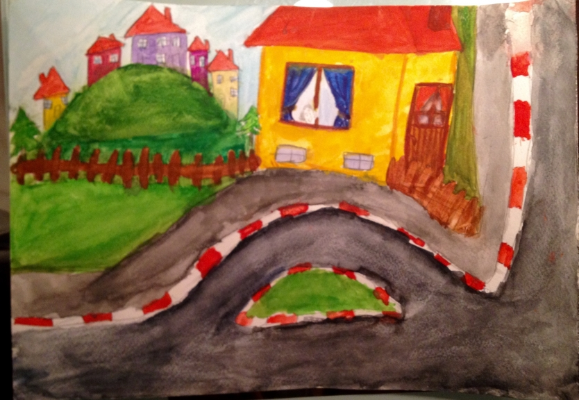 """House near the road"" from my son Boris Korudzhiyski"