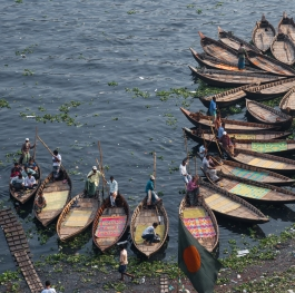 Traditional wooden boats