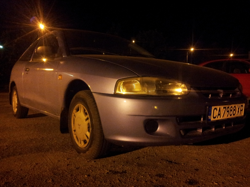 Mitsubishi Colt in the dark..