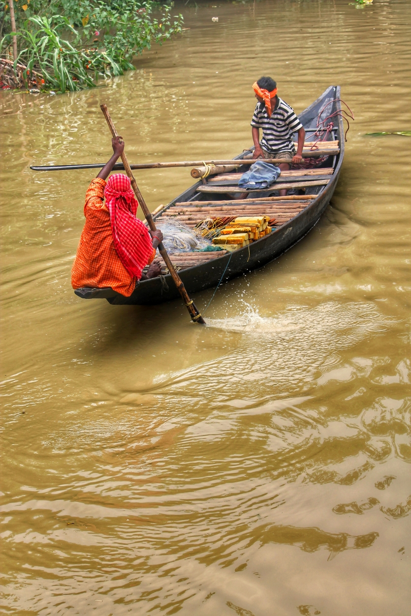 Livelihoods sail on wooden boats!