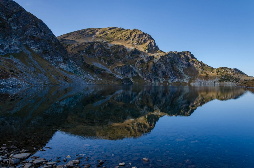 Reflection in Seven Rila lakes, Rila mountain, Bulgaria