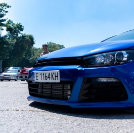 stanced vw sirocco
