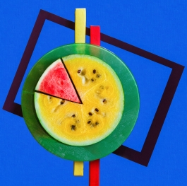 Suprematist watermelon
