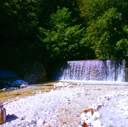 Waterfalls in Loutraki Pozar