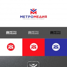 Metro Media Logo Cyrilic variation 3
