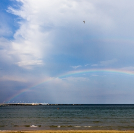 Rainbow over the Black Sea