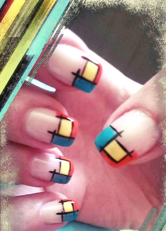 My colorful manicure
