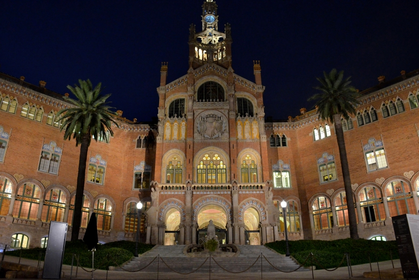 Glamor of Hospital de Sant Pau at dusk
