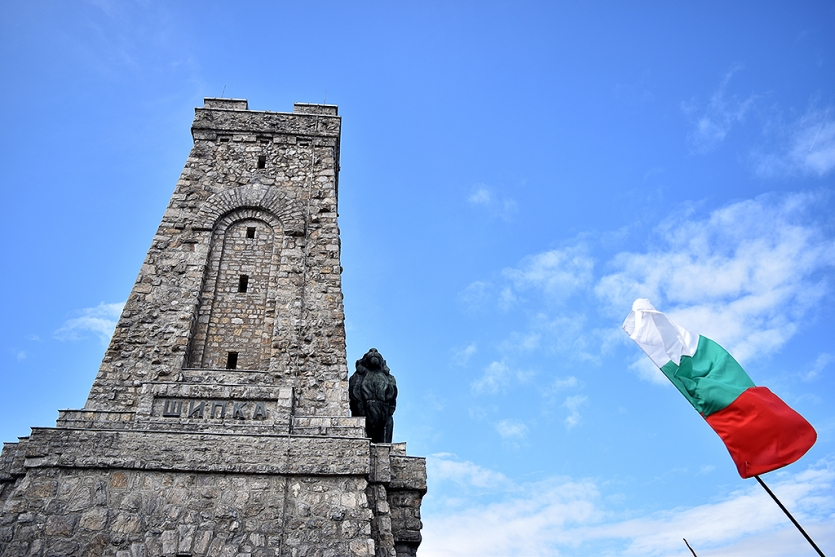 Celebrating 3rd of march on Shipka monument
