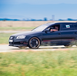 world faster Audi Rs6 in action