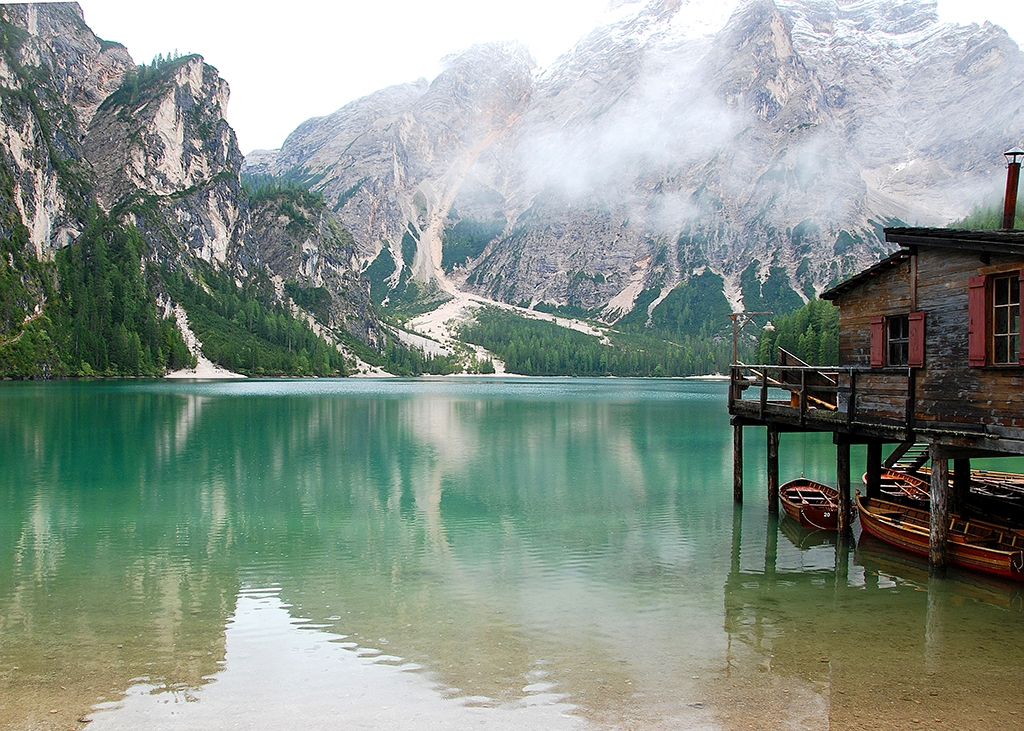 Braies Lake, Dolomiti mountain