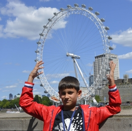 London eye is in my hands