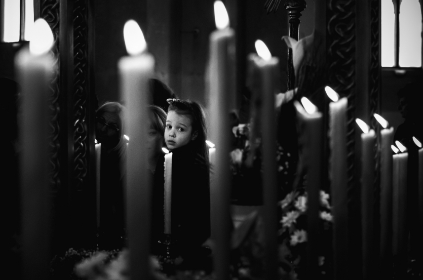 The light from the candles