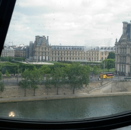 the Louvre from the Musee D'Orsay
