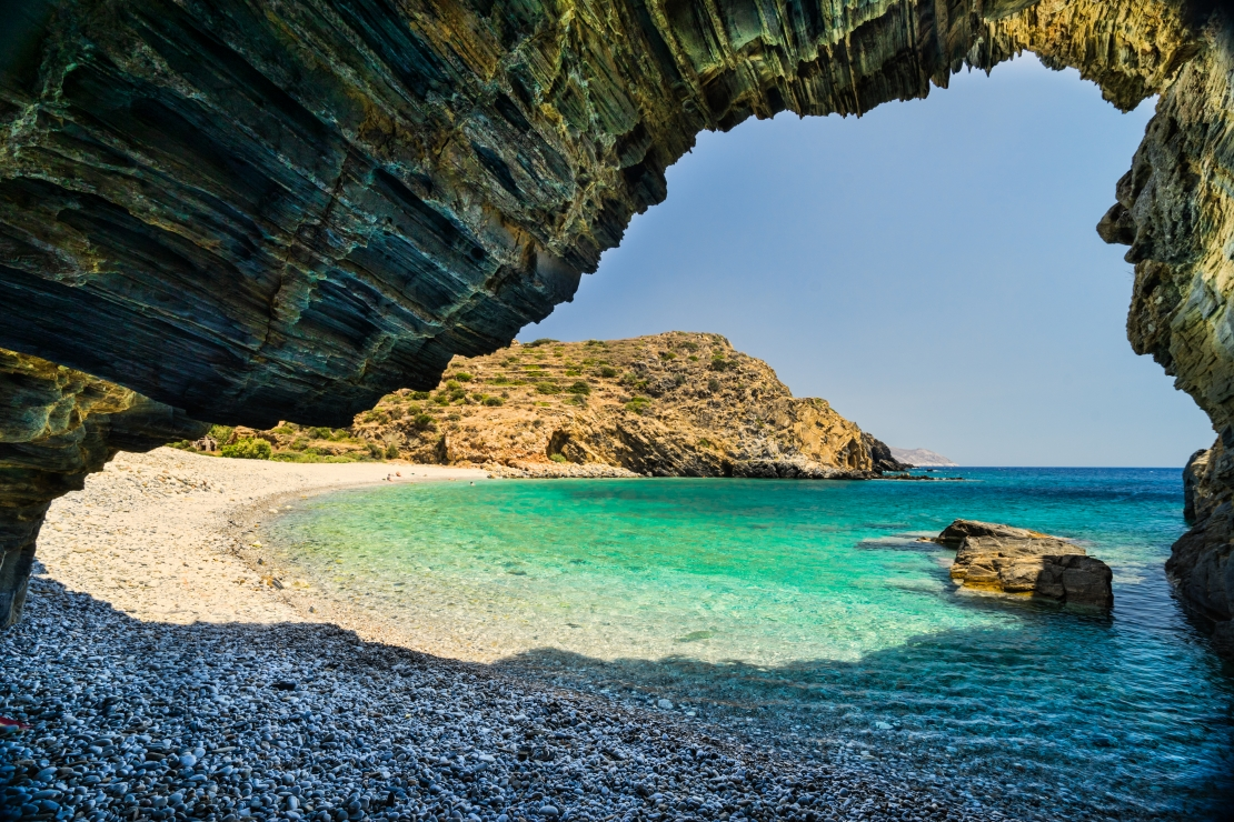 Almiro beach with Cave