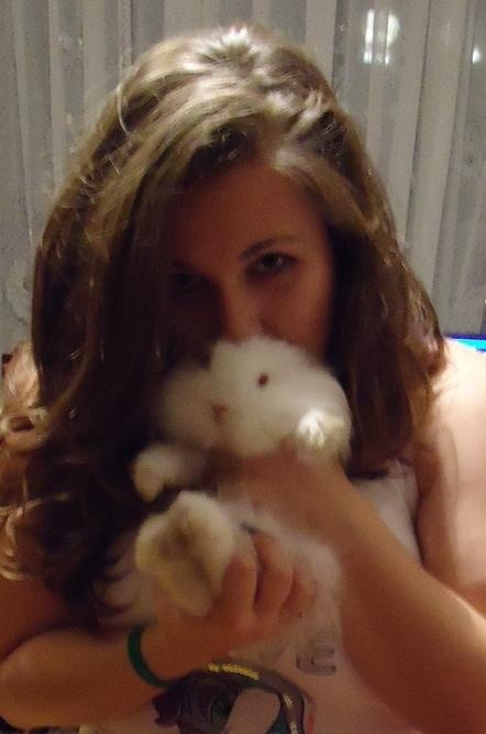me and my baby bunny Bella