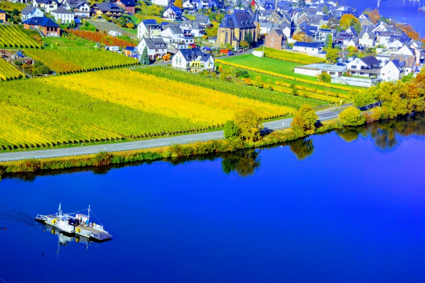 Moselle river boat