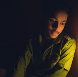 A low light night photography with ambient light