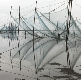 Reflection of fishing net