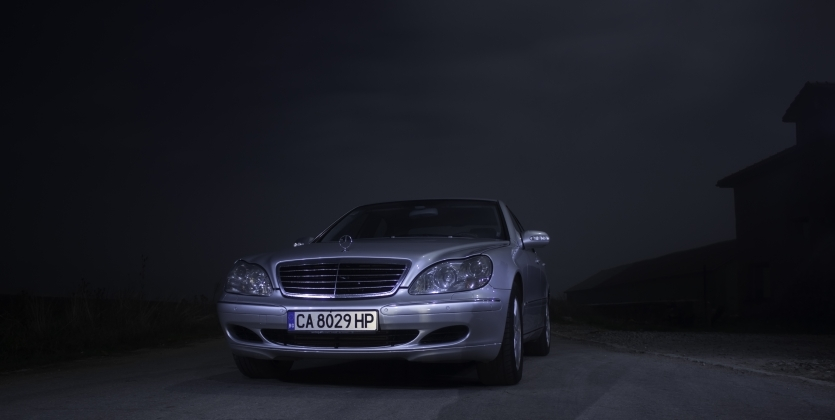 W220 in the fog