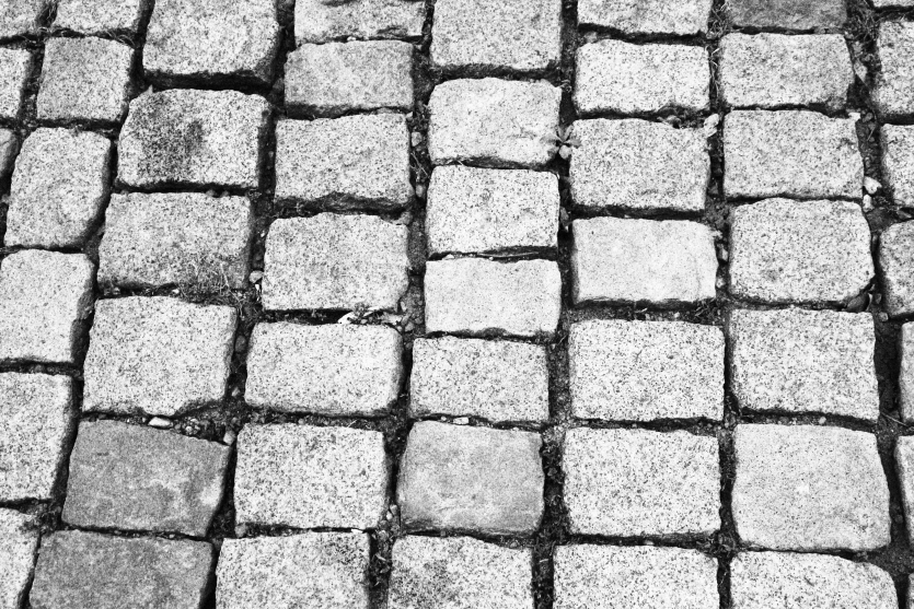 Chernomorets street pavements on the Black Sea coast