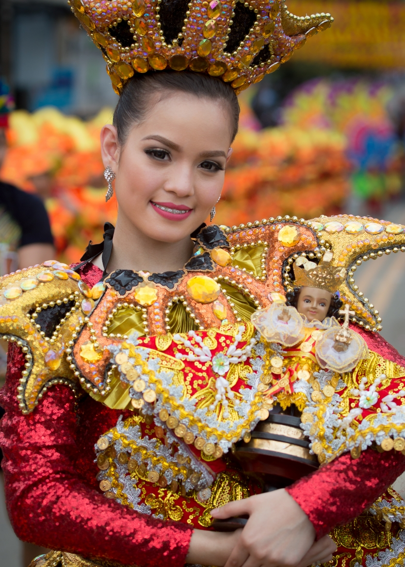 sinulog festival queen's smile