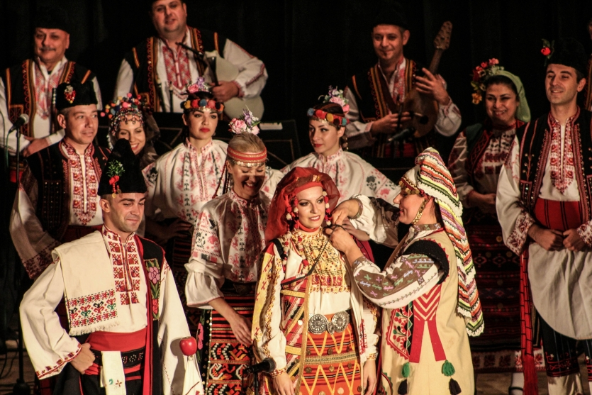 Moment of a traditional Bulgarian wedding