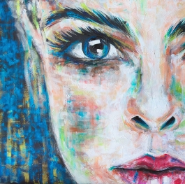 Woman abstract realism portrait