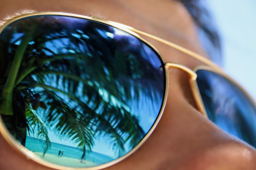 Glasses with sea view
