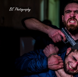 A scene of violence from a videoclip of Romanian raper, photo directed
