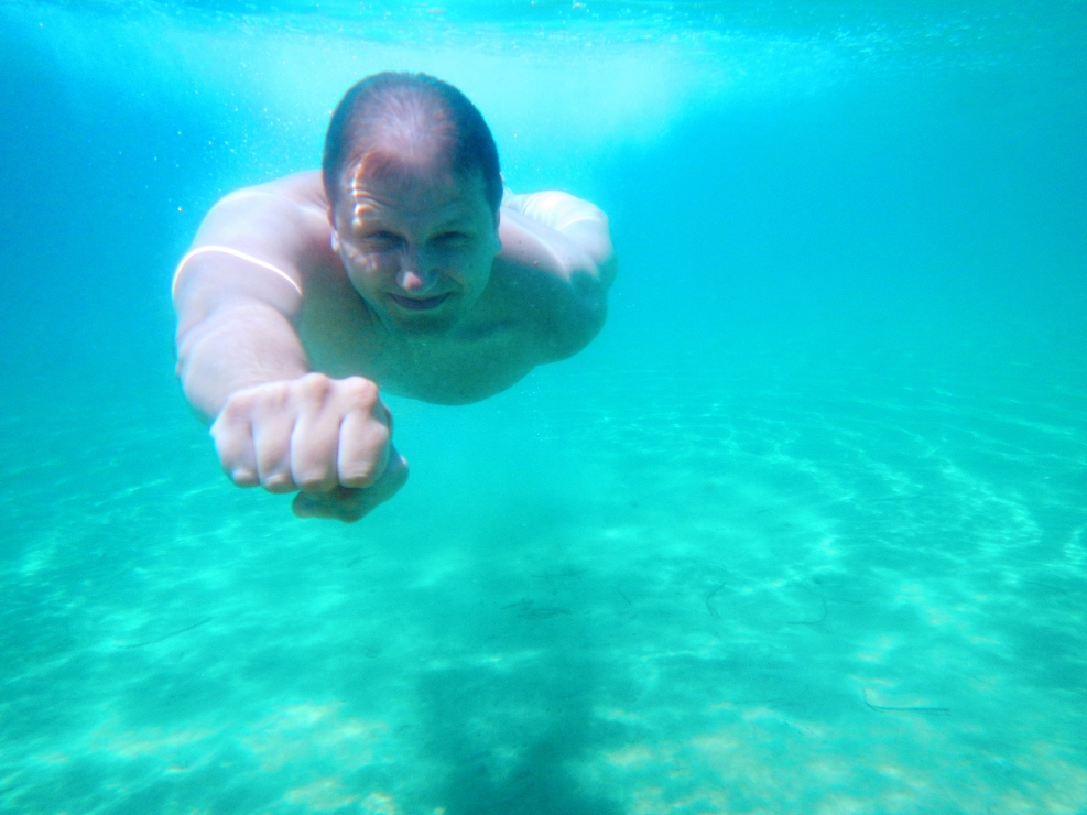 "Underwater ""Superman"""
