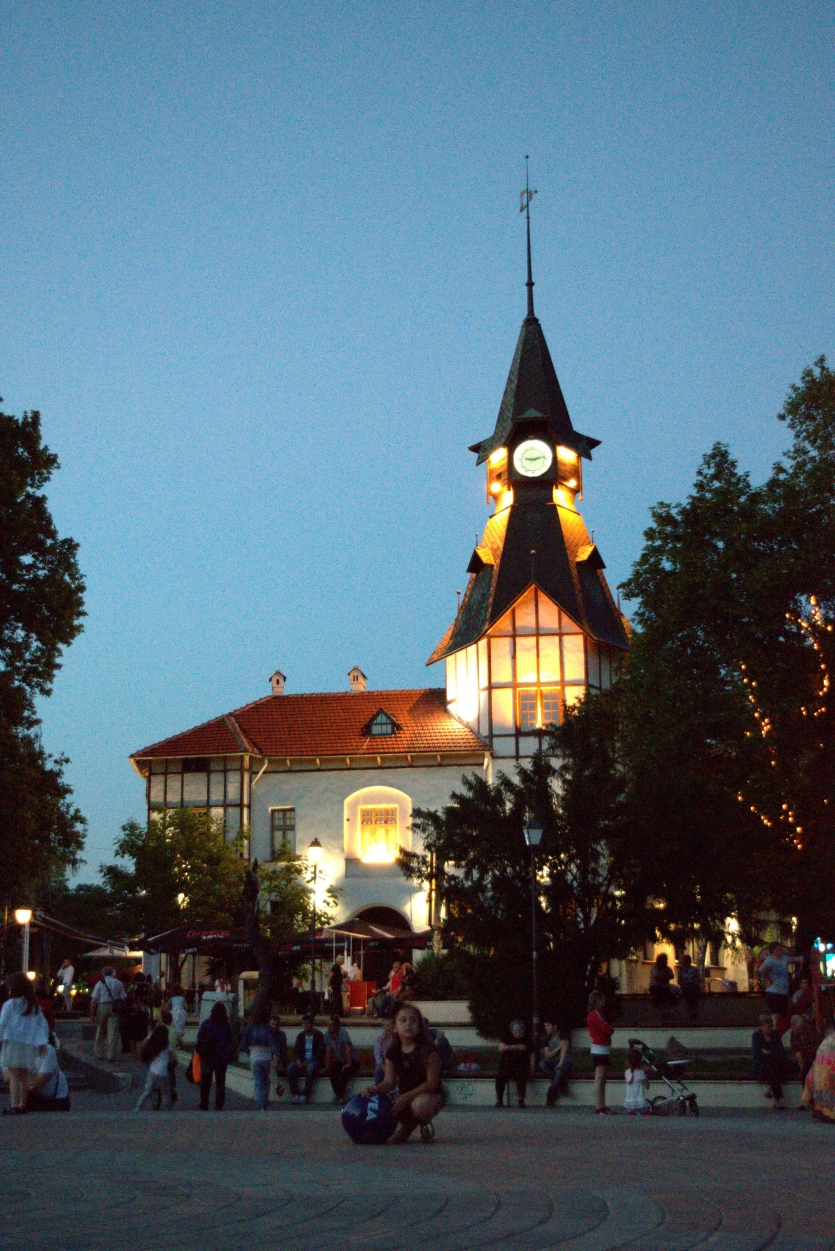 "The lighting clock tower ""The old post"""