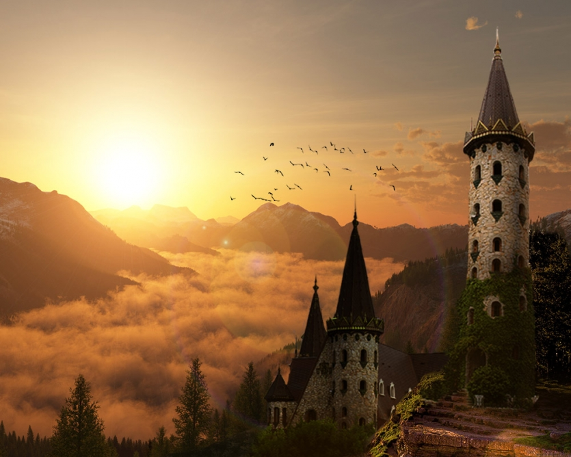 Castle in the mountain