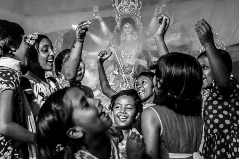 A blissful moment of Durga Puja