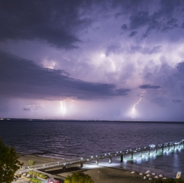 Storm over Burgas bay