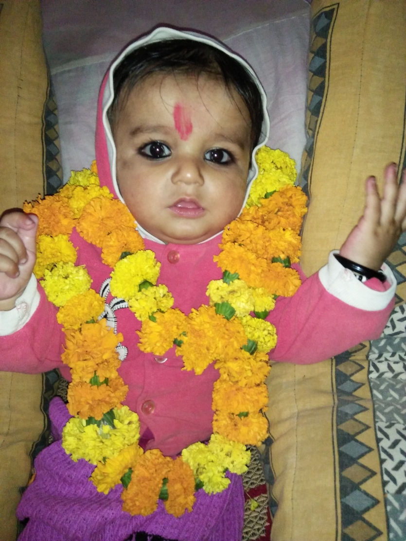 kanha with flower