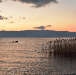 Sunset in Lake Ohrid