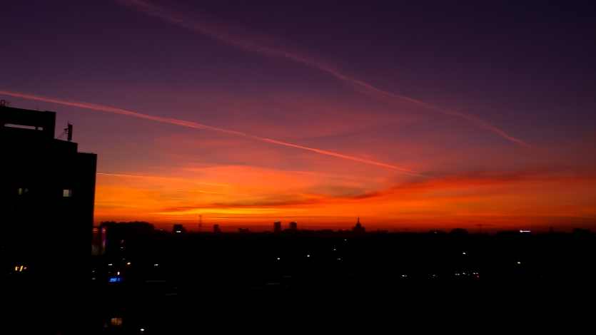 Bucharest sunset