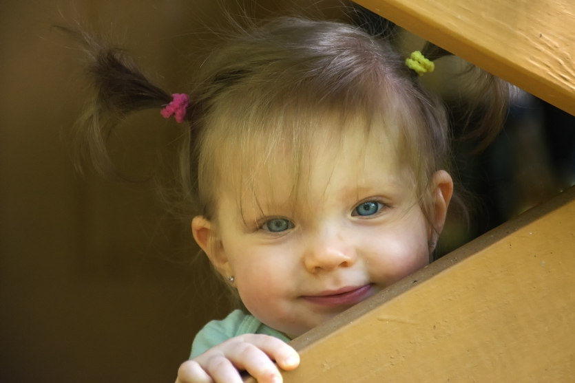 Gianna on the front porch