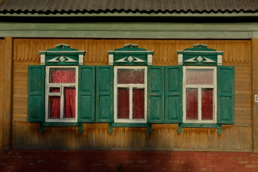 Russian village house